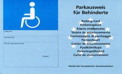 Park-Ausweis für Menschen mit Behinderungen